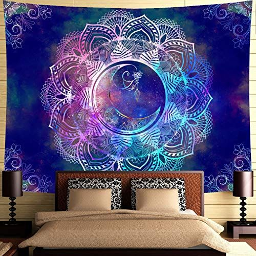 Colorful World Map Mystic Wall Art Bohemian Psychedelic Tapestry Tablecloth Bed Cover Curtain Backdrop Fabric