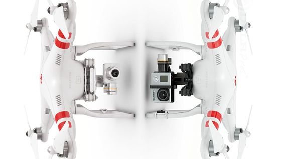 Good comparison between the DJI Phantom 2 Vision+ and the regular Phantom 2 with a GoPro.