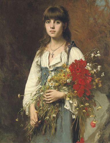 "Alexej Alexejewitsch Harlamoff (Russian, 1840-1925), ""Summertime"":"