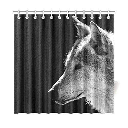 Amazon Com Wbsndb Home Decor Bath Curtain Wolfs Head Closeup Polyester Fabric Waterproof Shower Curtain For Ba With Images Bathroom Curtains Shower Curtain Hooks Curtains