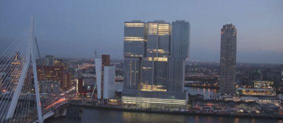 Rem Koolhaas estrena en su ciudad 'De Rotterdam', un conjunto de tres torres cosidas en las alturas que esconde 160.000 metros cuadrados de vidrio y hormigón