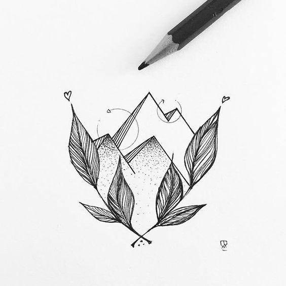 Floral mountains #illustrator #illustration #design #sketch #drawing #draw…