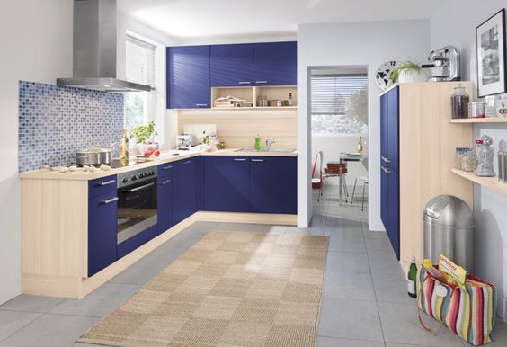 Epic Blaue K che von Pino by ALNO Blue kitchen by Pino ALNO Trailer Renovation Ideas Pinterest K chenfronten Blau und K che