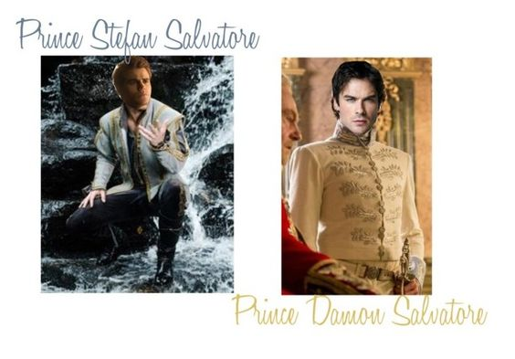 """""""Prince Stefan Salvatore & Prince Damon Salvatore"""" by ygarcia21 ❤ liked on Polyvore featuring art"""