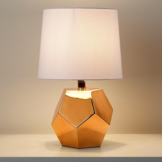 Rock Table Lamps: Gold Rock Table Lamp (and Shade),Lighting