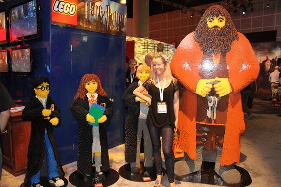 Giant LEGO Harry Potter, Hermione, Ron and Hagrid