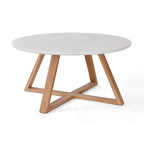 Nordic Minimalist Solid Wood Coffee Table Round Creative Coffee