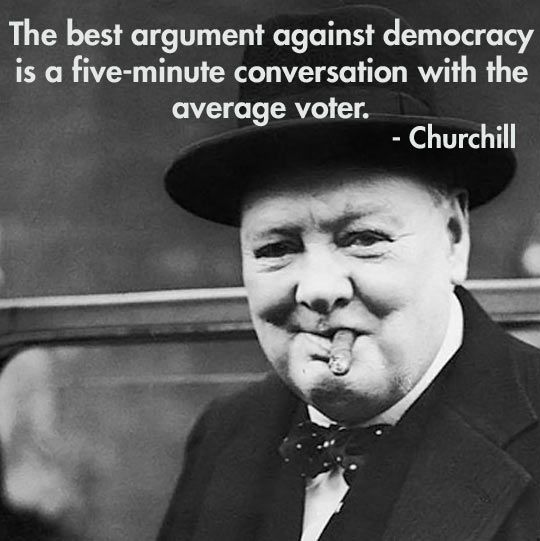 Just thought this great Winston Churchill quote needs to be remembered…