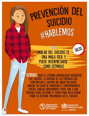 OPS/OMS Uruguay - Mitos acerca del suicidio