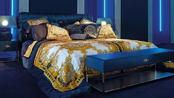 Versace Furniture Signature Silk Bedcover Buy Online At LuxDeco - Creative and soft sofa for real fashionistas by versace