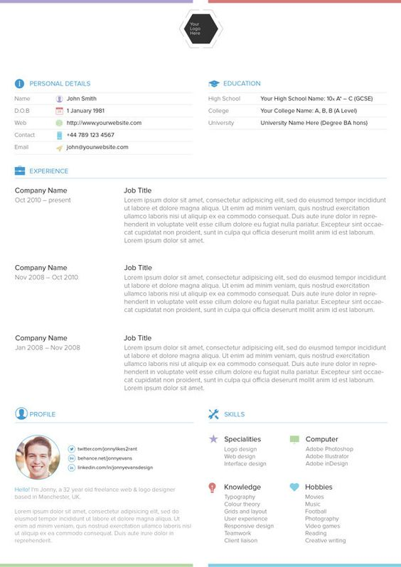 21 Free Résumé Designs Every Job Hunter Needs Design, First page - downloadable resume templates free