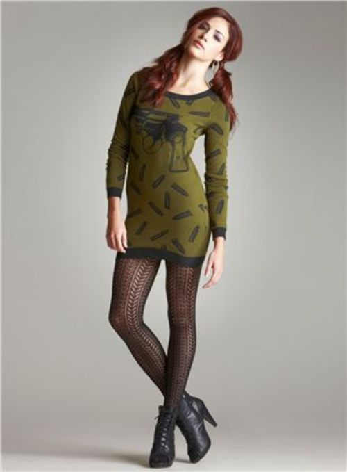 love the sweater!    Betsey Johnson Bullets and Gun Tunic Sweater Dress Size: S - $147.00