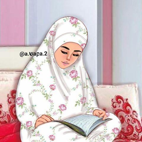 غد الجمعة هو أول أيام شهر شعبان اللهم بارك لنا في شعبان وبلغنا رمضان جمعة مباركــة مقدما رسمة جديدة Islamic Girl Girls Cartoon Art Girly M