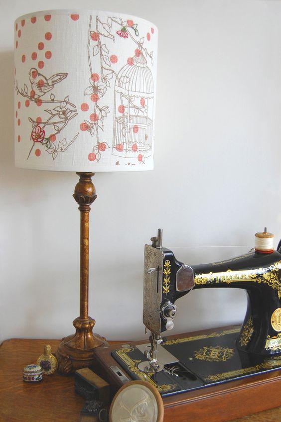 Dotty Bird Lampshade