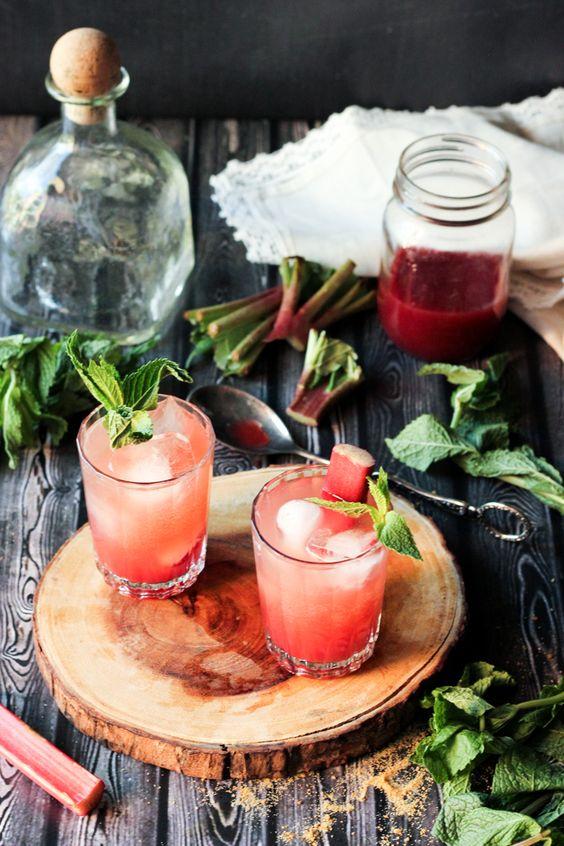 Sparkling Rhubarb Shrub | Recipe | Shrubs, Cocktails and Good Tequila