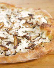 mushroom pizza, Martha Stewart