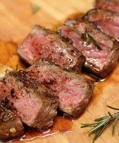 Recipe For Rosemary Garlic Butter Steaks Pepper