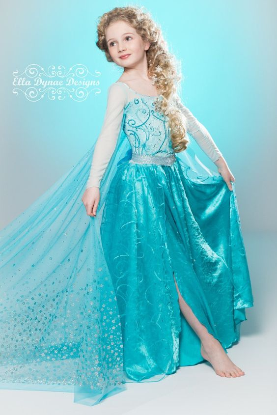 Amazing Elsa dress, my daughter would go nuts for this! Frozen Custom Elsa Costume by EllaDynae on Etsy, $280.00: