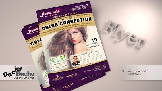 Curso Color Connection - Flyer criado para Nossa Loja de Guaíra