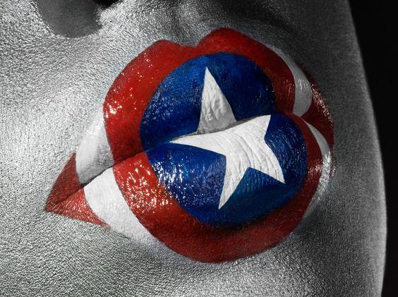 Captain America Lip Art