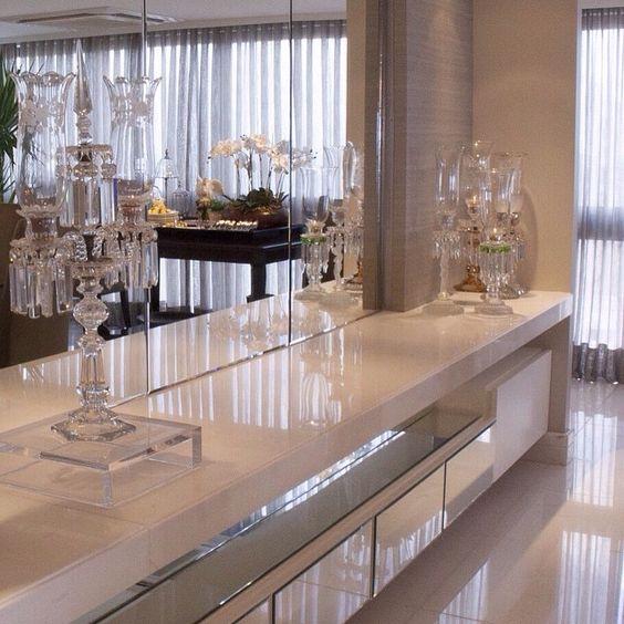 Ideia luxuosa para a sala de jantar!!! ❤️
