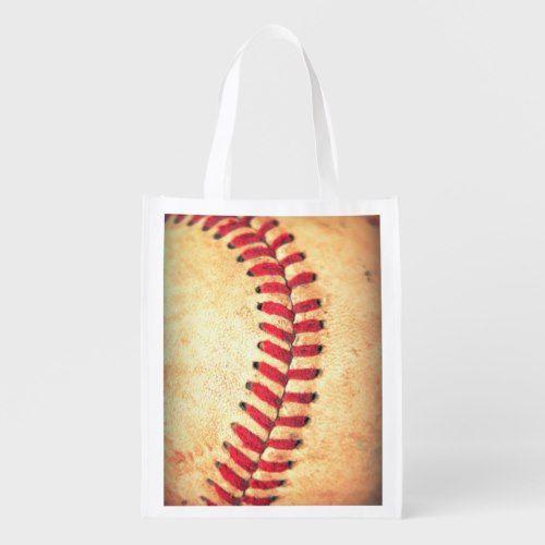 Vintage Baseball Ball Reusable Grocery Bag Reusable Grocery Bags Grocery Bag Vintage Baseball