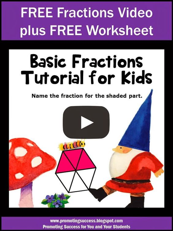 Fractions, Worksheets and Free worksheets on Pinterest