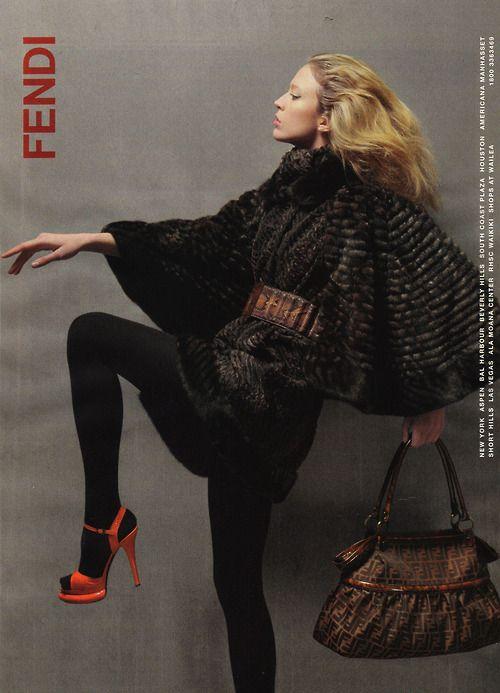 Raquel Zimermann by Karl Lagerfeld for Fendi F/W 2007