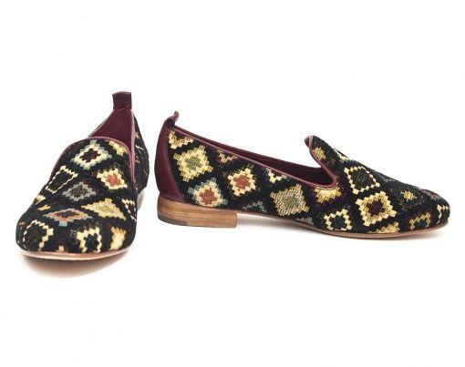 Nora's Shoe Shop : 'Rea' smoking slipper in multi needlepoint by Johnston and Murphy - Rea Slipper Multi Needle point-Johnston and Murphy-15