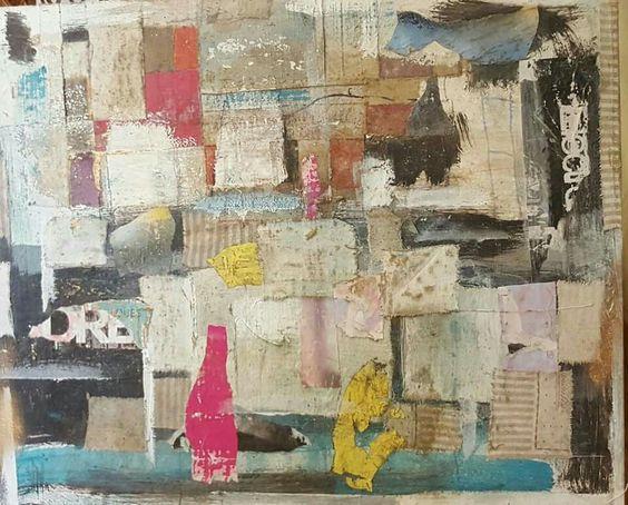 Collages..matériaux divers