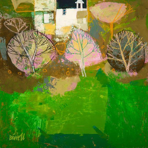 Village Trees  |  mixed media  | 30x30cm
