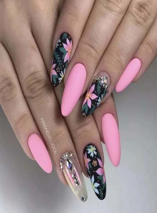 Best 44 Long Nails Designs Collection In 2020 With Images