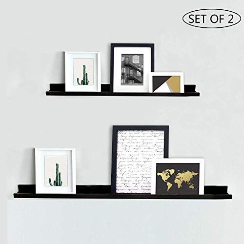 The Nbwood Viva Set 2 Photo Ledge Picture Display Floating Wall Shelf Espresso 24 Inch 36 Inch Online Shopping In 2020 Floating Wall Floating Wall Shelves Rustic Wall Shelves