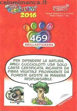 Amici Cucciolotti 2016: Retro Figurina n. 469 -