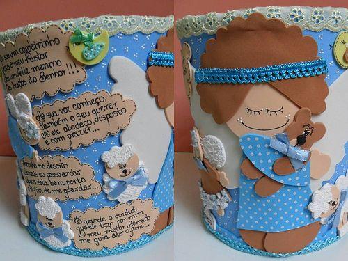Cíntia Alves Lata decorada com anjinho - Buscar con Google