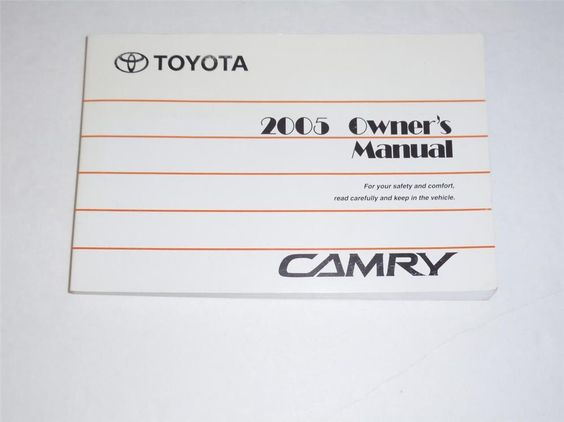 2005 toyota camry owners manual book owners manuals pinterest rh pinterest com 2004 camry owners manual supplement 2004 camry owners manual pdf