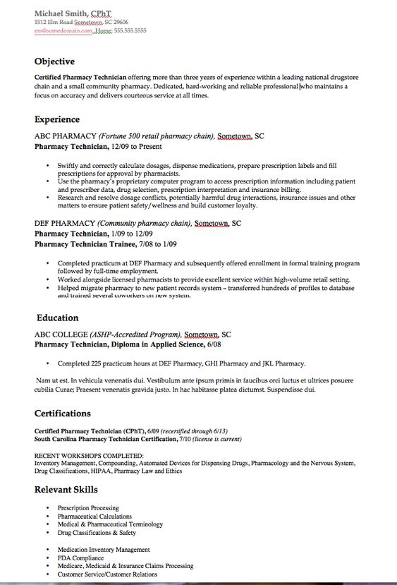 Osborn Architects Resume Sample - http\/\/resumesdesign\/osborn - certified pharmacy technician resume