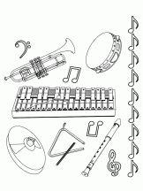 Coloriage Musique sur Hugolescargot.com