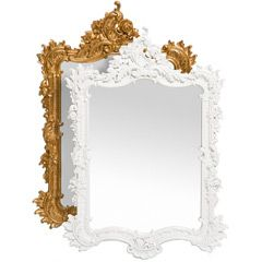 I love getting old mirrors at a garage sale and painting them to look like this! -Brooke