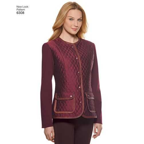 New Look Pattern 6308 Misses' Jackets or Vests: