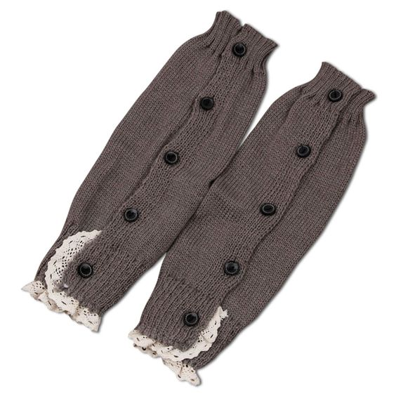 Buttoned Leg Warmers in Stone Gray, 46.2% discount @ PatPat Mom Baby Shopping App