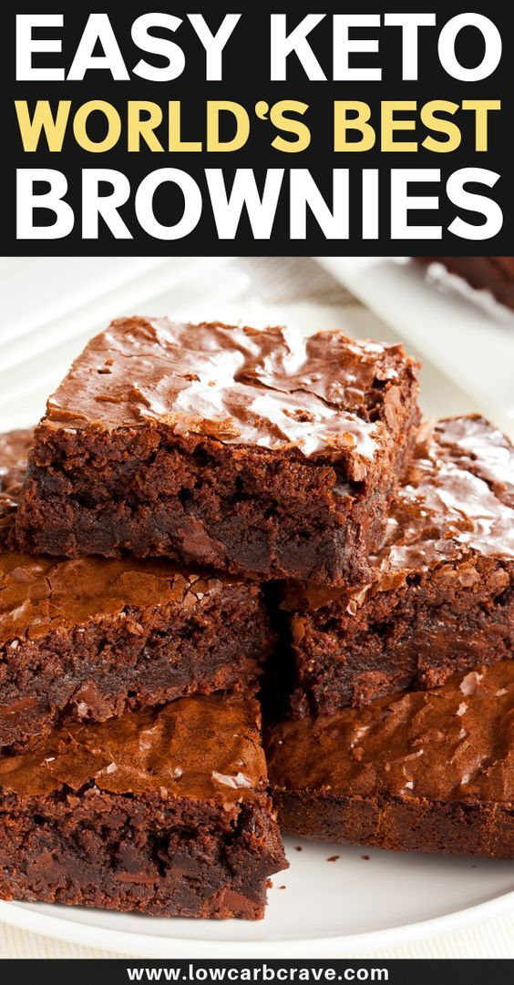 Easy Homemade Sugar-Free Keto Brownies Recipe (BEST Low Carb Dessert EVER). These healthy fudge chocolate brownies are flourless, super fudgy, and delicious! The perfect keto dessert treat for any given day. This recipe is also gluten-free. #lowcarbdesserts #cleaneating #ketorecipes