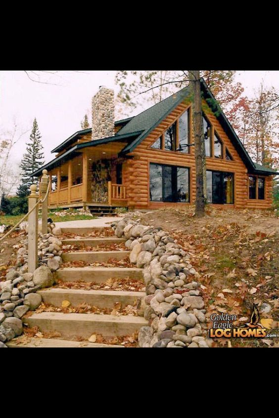 Stunning log home