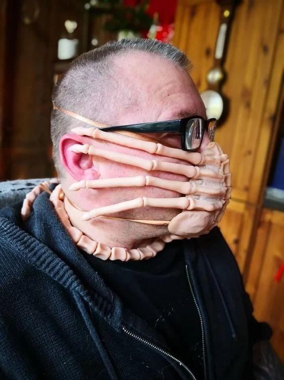 Антивирусная маска - лицехват...   Пикабу