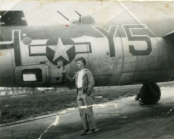 Member of the US Army Air Corps during WWII in France.