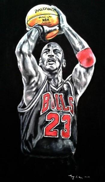 Air Jordans taille des jeunes 1 - MIchael Jordan\u0026quot; #Creative #Art in #painting @Touchtalent http ...