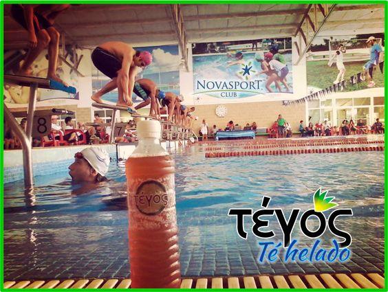 Preparándose los nadadores para la competencia