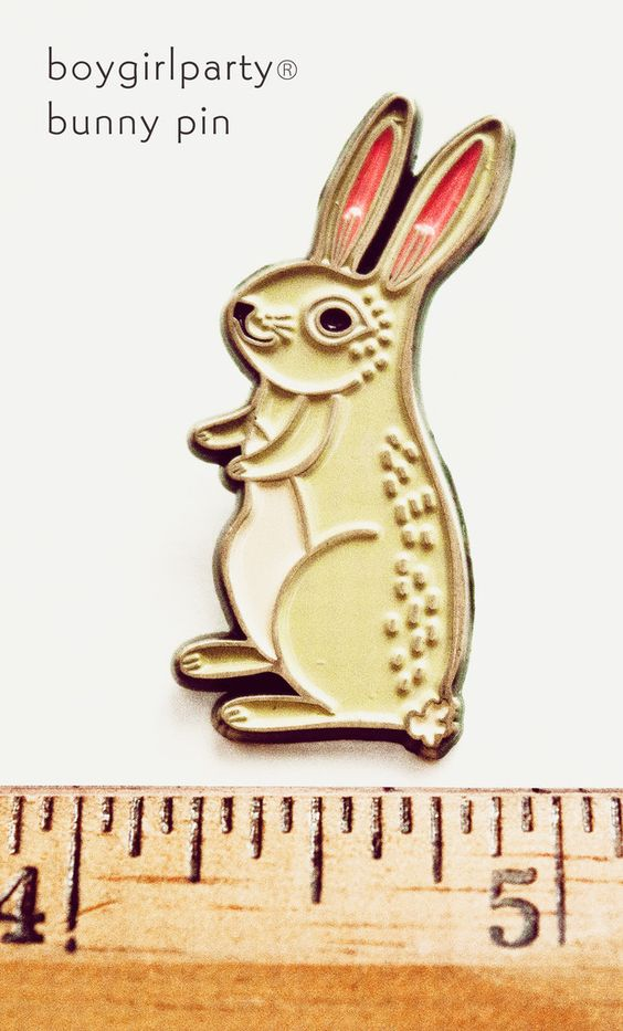 White Rabbit Enamel Pin by boygirlparty http://shop.boygirlparty.com/collections/_new/products/bunny-pin-rabbit-pin-bunny-enamel-pin-by-boygirlparty?variant=19146643527