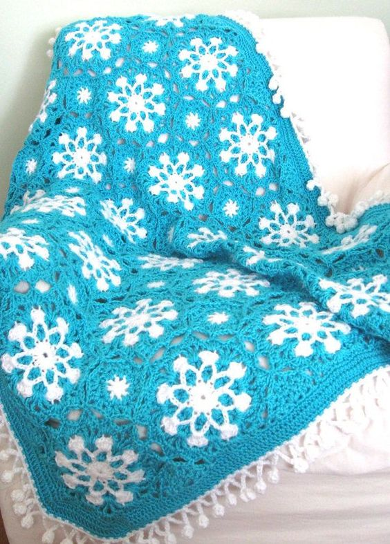 This Crochet Snowflake Afghan Pattern is Free at Red ...