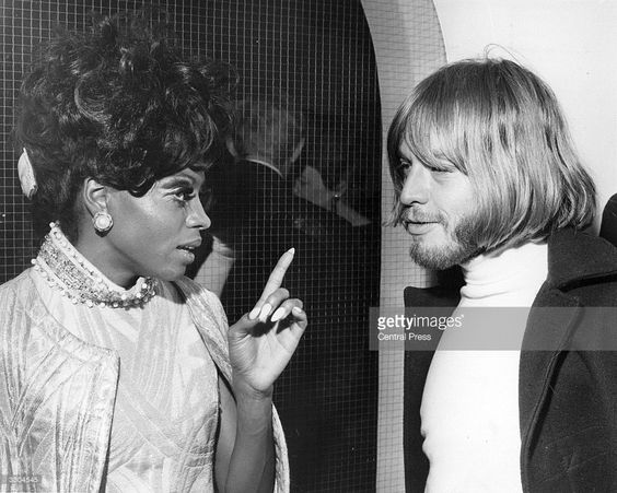 American soul singer Diana Ross talks to Rolling Stones bad boy Brian Jones during an aftershow party hosted by the Duke and Duchess of Bedford to celebrate The Supremes performance on Sunday Night At the Palladium.